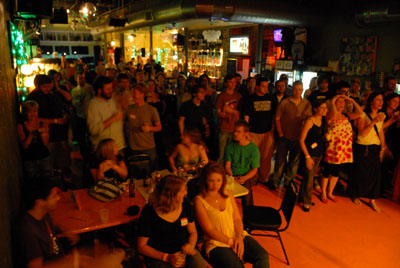 The crowd at The Terminal Concert on July 26 @ The Bottletree. Bob Farley/f8Photo.org