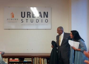 AUurban studio signage unveiling