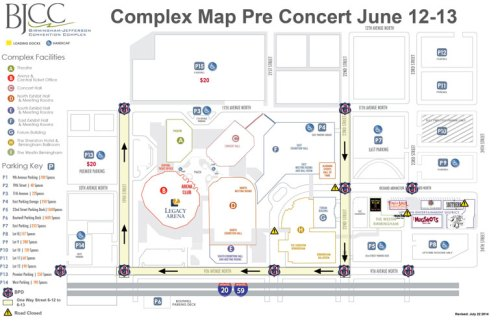 BJCC Garth Brooks parking map