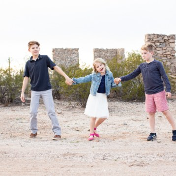 The Craghead kids in San Tan Valley, Arizona