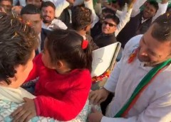Priyanka Road Show in Lucknow on February 11, 2019