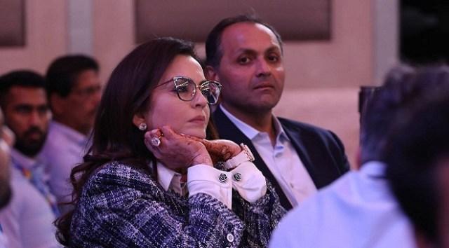 Nita Ambani of Mumbai Indians during IPL Auctions