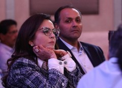 Nita Ambani of Mumbai Indians during IPL Auctions
