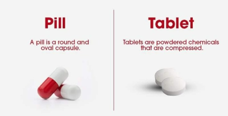 what is difference between pill and tablet