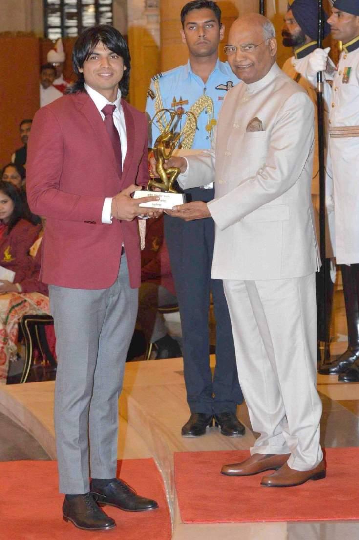 Arjun award Neeraj Chopra