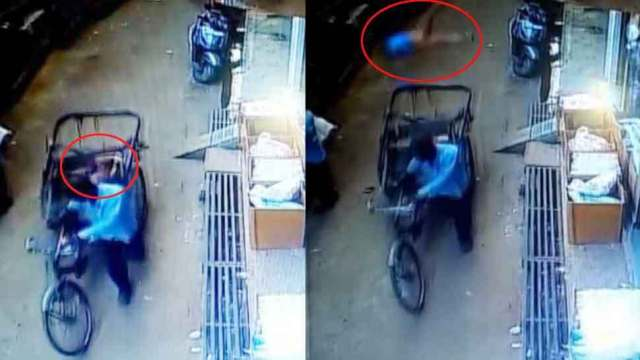 Madhya Pradesh: Rickshaw gave life to a child falling from the second floor, did not come to Kharoch, see VIDEO