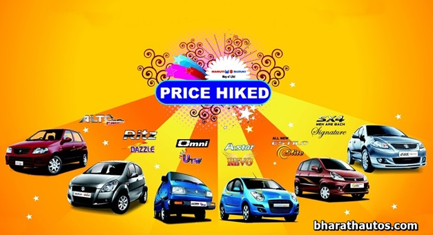 Maruti Announces Mandatory Price Hikes For 2020-ధరలు పెంచి తీరతామంటున్న మారుతీ