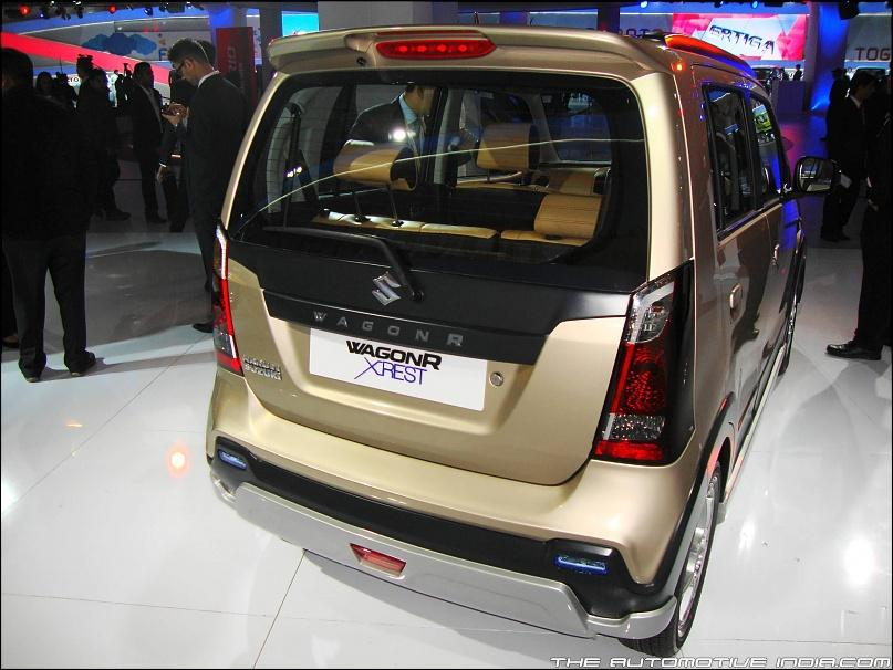 Spied Registered Maruti Wagon R Xrest Spotted On The Move