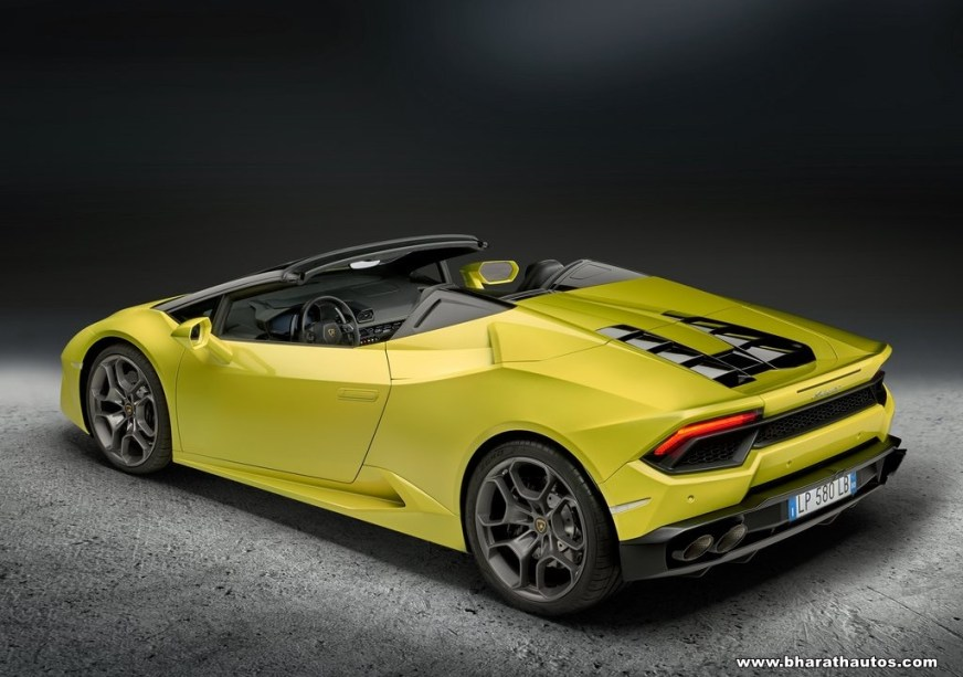 Lamborghini Huracan RWD Spyder now in India - Rs 3.45 Crore