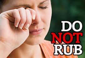 Do Not Rub Your Eyes !!! (1/2)