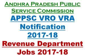 APPSC VRO VRA Notification 2017