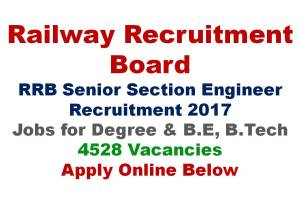 RRB SSE Recruitment Apply Online