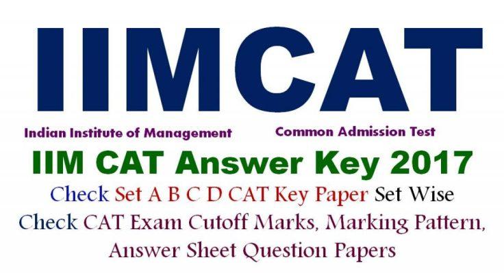 CAT Answer Key Paper