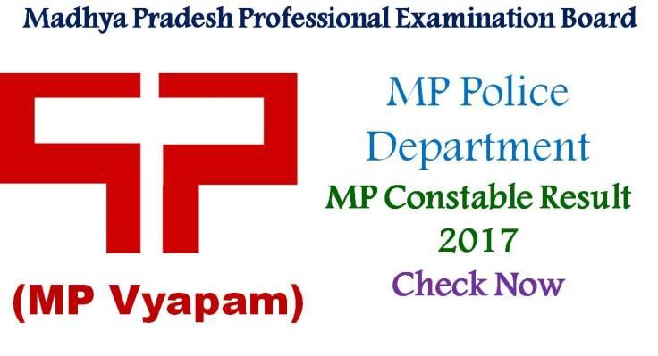 MP Constable Results - MP Vyapam Constable Results