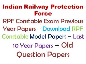 RPF Constable Previous Papers