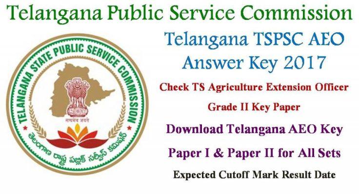 TSPSC AEO Answer Key 2017
