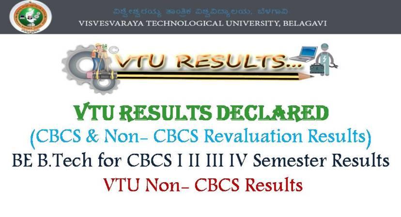 VTU Results- BE B.Tech Non- CBCS All Sem Results