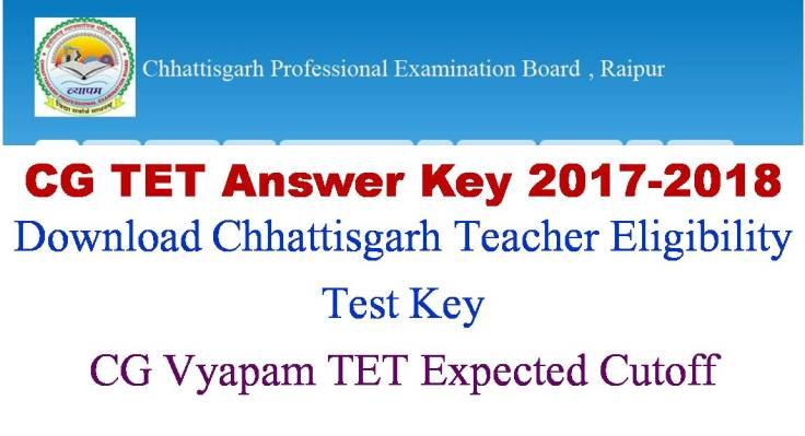 Cy G Vyapam TET Exam Key Paper