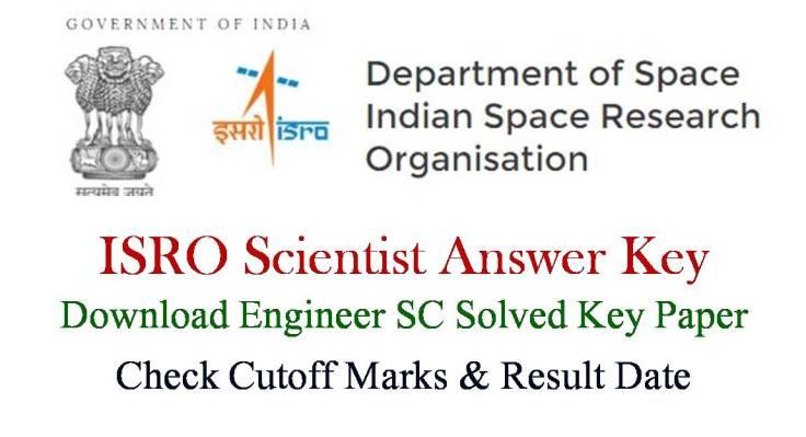 ISRO Scientist Engineer SC Solved Key Paper