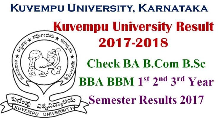 Kuvempu University Result 5th 6th Semester