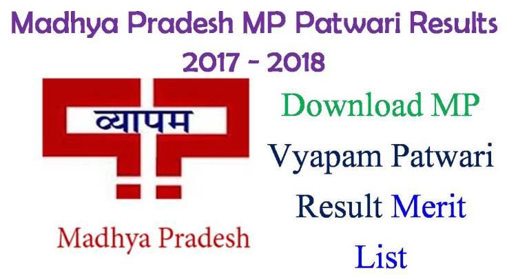 Madhya Pradesh Vyapam Patwari Results