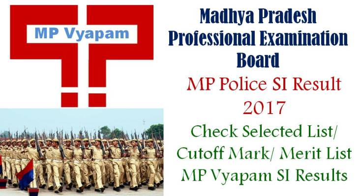 MP Police SI Result 2017 Selected List