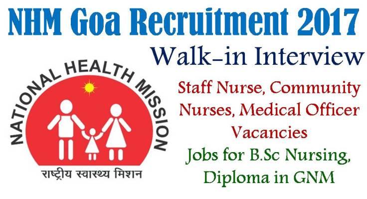 NHM Staff Nurse Goa Vacancy