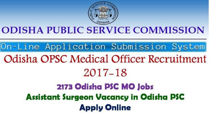 Odisha PSC Medical Officer Recruitment
