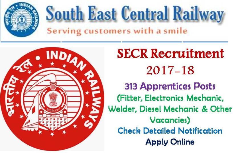 Latest SECR Apprentices Recruitment