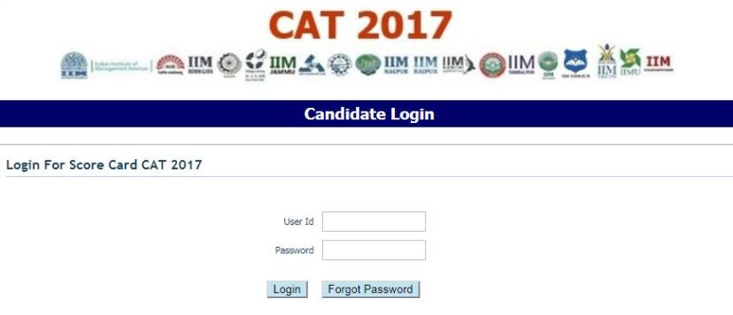 CAT Results Toppers List 2017 Scorecard Download
