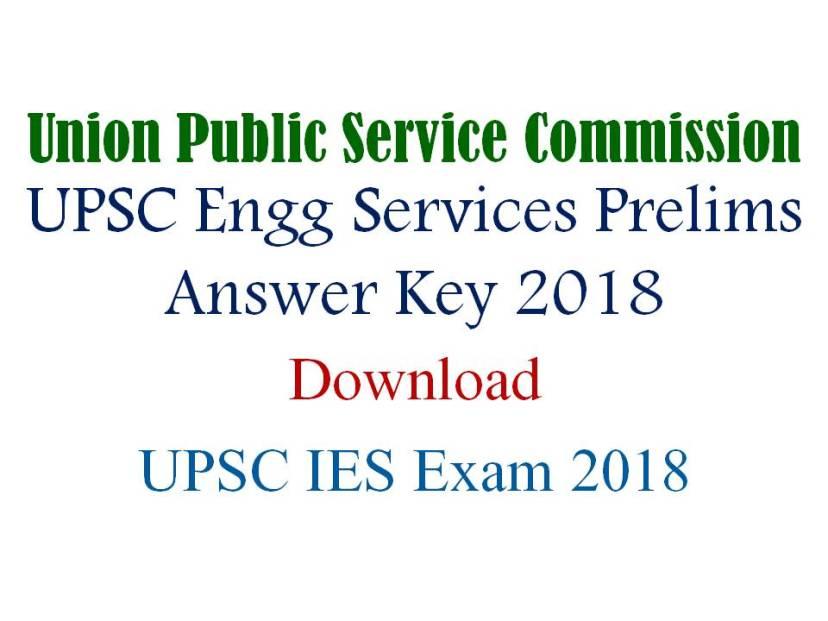 UPSC Engg Services Prelims Answer Key