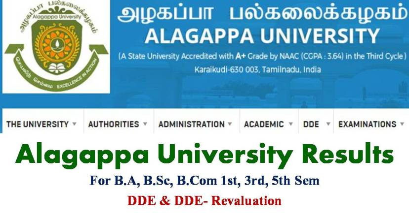 Alagappa University Results