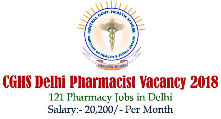 CGHS Delhi Pharmacist Vacancy 2018