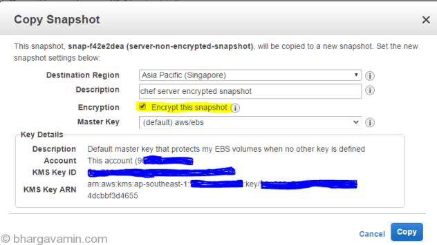 aws-create-encrypted-snapshot