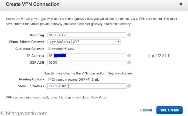 create-vpn-connection