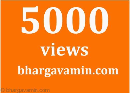 5kviews-bhargavamin