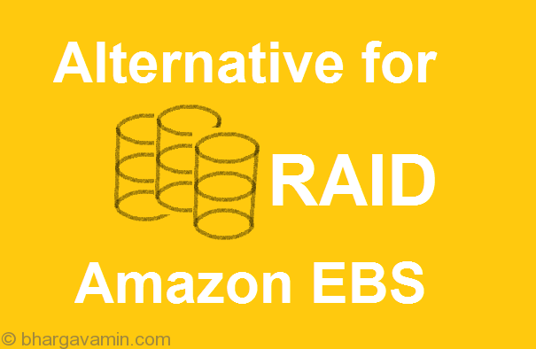 Why configuring RAID on your EBS volume will not help
