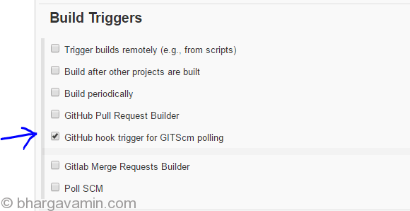 Run Jenkins Job on Git Push Event Automatically - Bhargav Amin