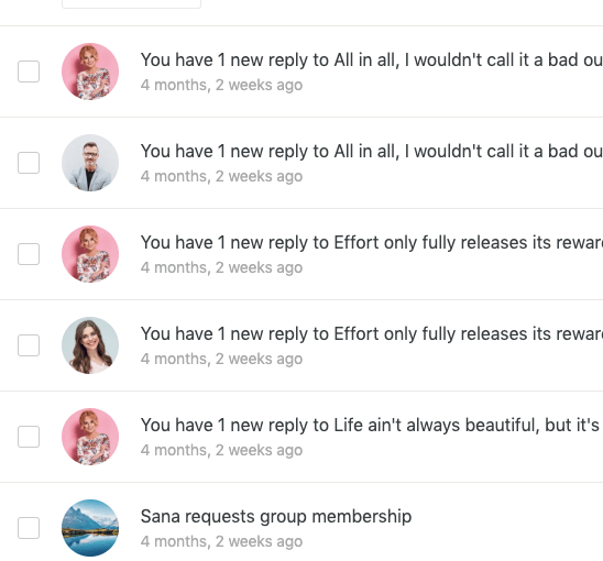 User avatar in BuddyPress notification loop