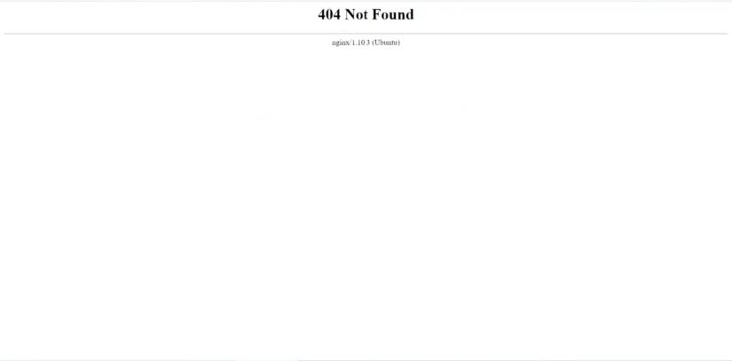 Fix 404 error on nginx
