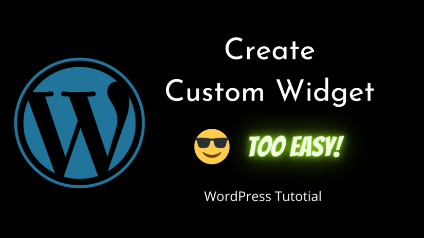 How To Create Custom Widget In WordPress VERY EASY | WordPress | WordPress Development