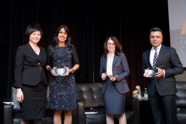2nd Annual Ascend Canada Leadership Awards Gala, April 27th, 2015: Ritu Bhasin joins leadership consultant Laura Finfer for a fireside chat at the 2nd Annual Ascend Canada Leadership Awards Gala – Toronto, ON