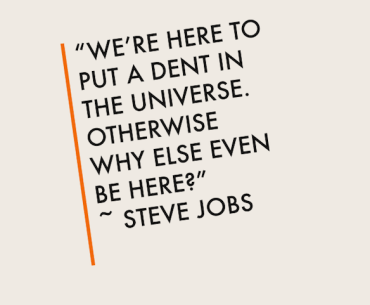 Steve Jobs dent quotes
