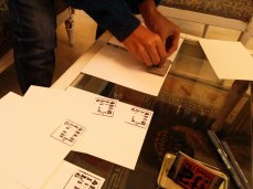 stamping the blank cards