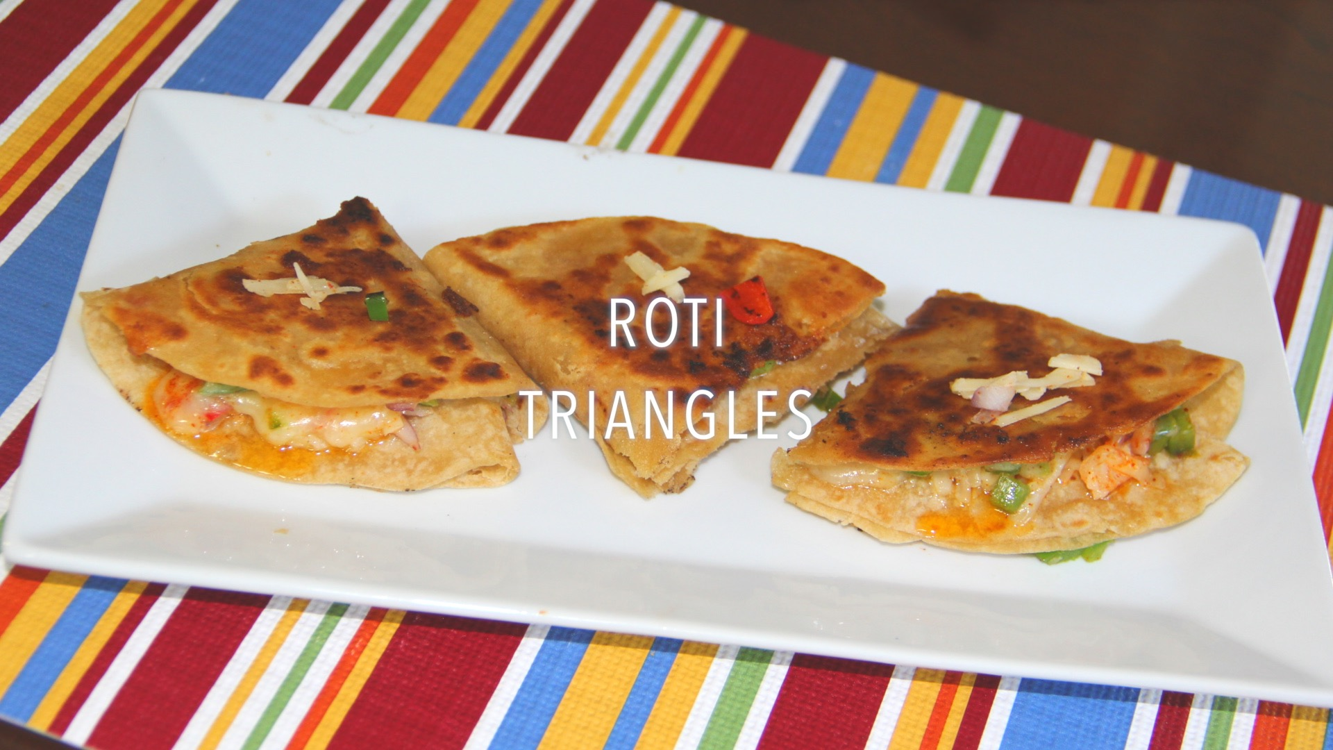 Left Over Roti Triangles