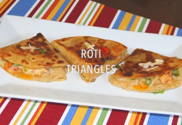 Leftover roti recipe by sanjeev kapoor bhavnas kitchen leftover roti triangles forumfinder Gallery