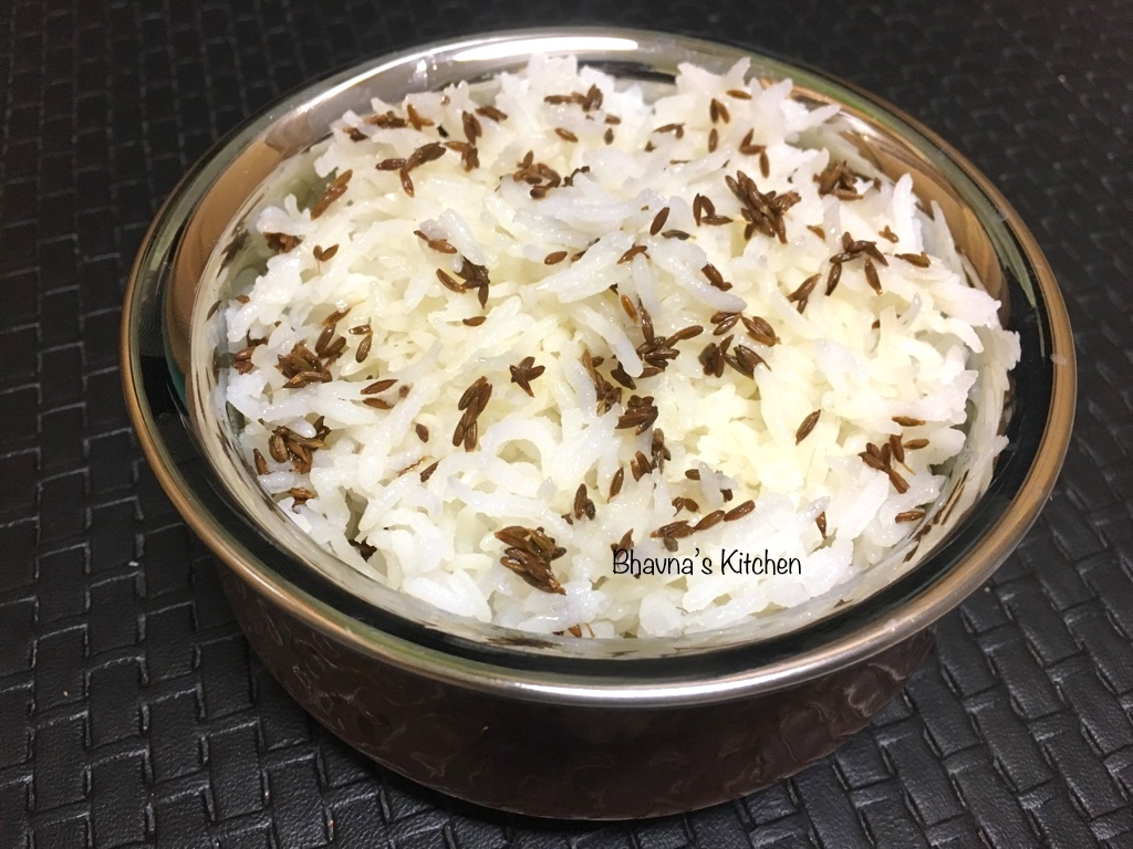 Jeera Chawal – Cumin Flavored Rice – Bhavna\'s Kitchen