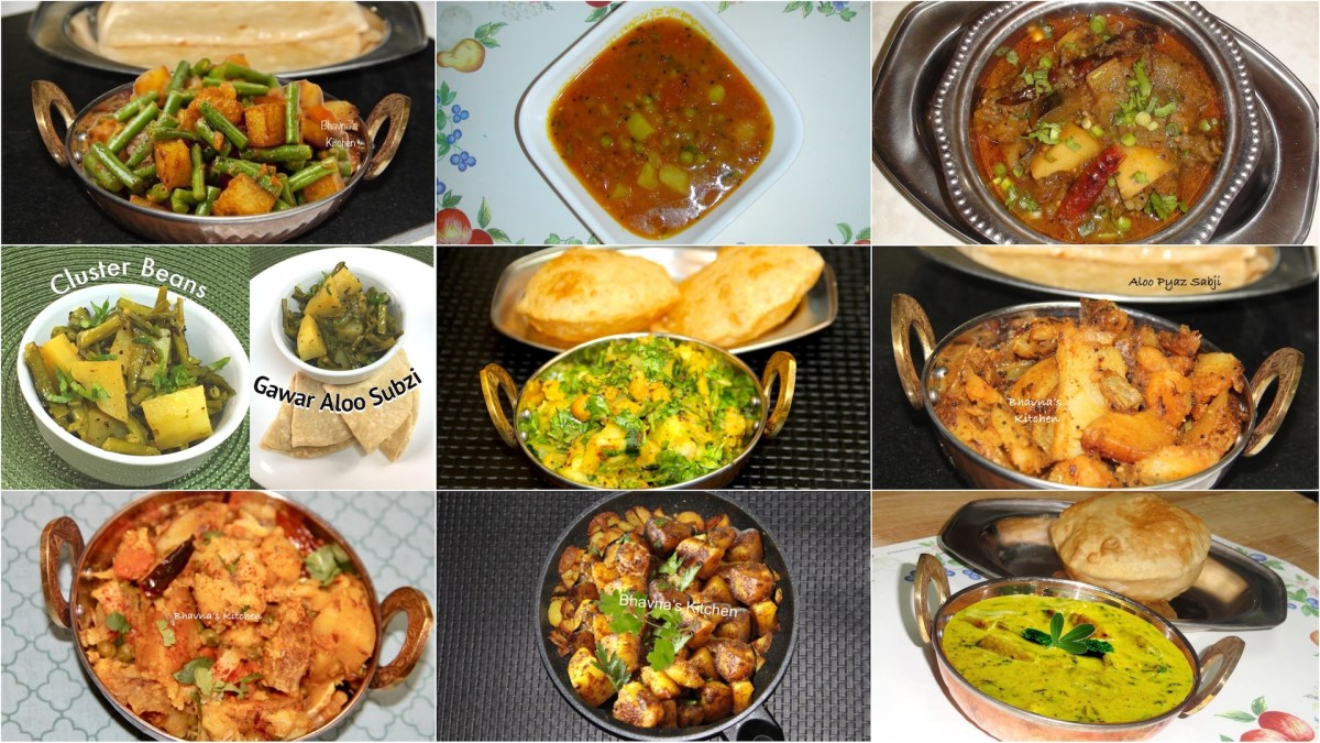 10 Amazing Aloo or Bateta (Potato)  Sabzis  and Curries of All Time | Potato Recipes Indian