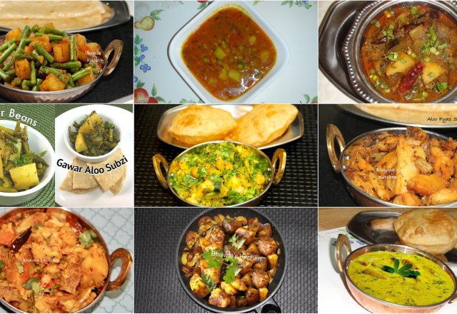 Gujarati shaaksubjis bhavnas kitchen 10 amazing aloo or bateta potato sabzis and curries of all time potato recipes indian forumfinder Images