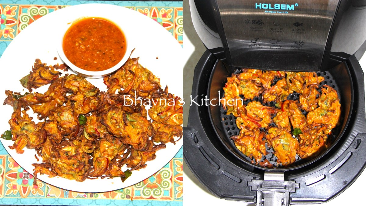 No Fry Pakore - Air Fried Vegetable Fritters